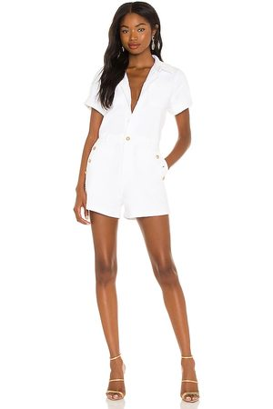 7 for all Mankind Welt & Button Romper in - White. Size L (also in XS, S, M).