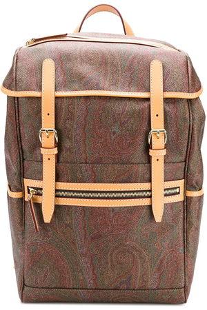 Etro Herren Rucksäcke - Paisley print backpack