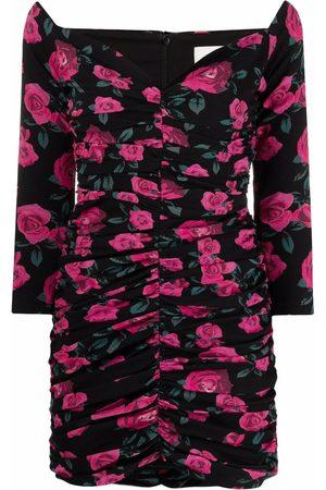 GIUSEPPE DI MORABITO Damen Cocktail & Partykleider - Rose-print ruched mini dress