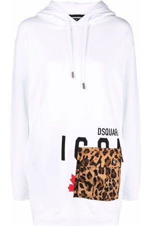Dsquared2 Logo-print hoodie dress