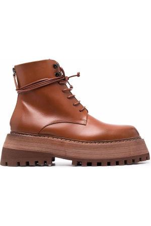 MARSÈLL Quadrarmato leather desert boots