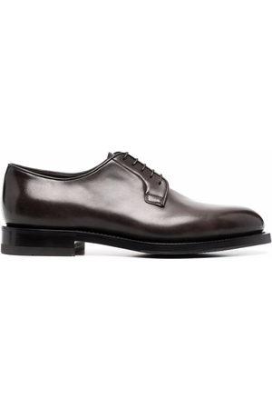 santoni Leather Derby shoes