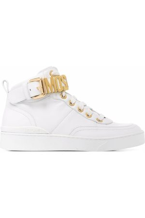 Moschino Logo-lettered high-top sneakers