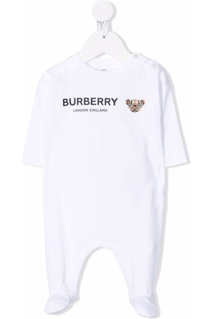 Burberry Schlafanzüge - Thomas Bear-print sleepsuit