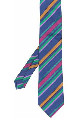 Etro Herren Krawatten - Striped cotton-silk tie