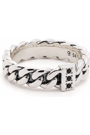 TOM WOOD Ringe - Chain Slim Spinel sterling silver ring
