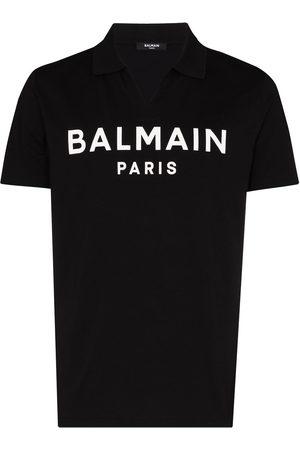Balmain Herren Poloshirts - Logo-print polo shirt