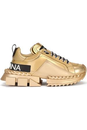 Dolce & Gabbana Damen Sneakers - Metallic logo sneakers