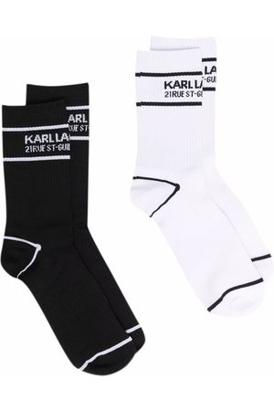 Karl Lagerfeld Logo sports socks 2-pack