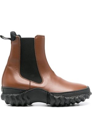 Marni Damen Stiefeletten - Chunky sole leather Chelsea boots