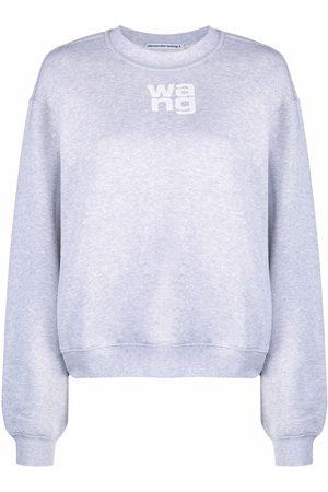 Alexander Wang Logo-print long-sleeved sweatshirt