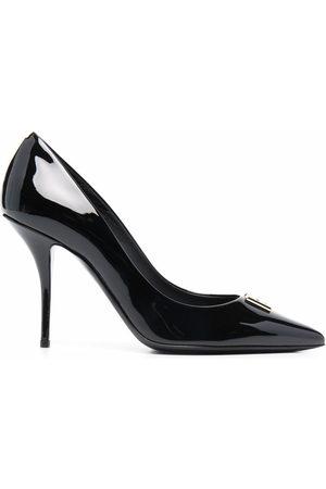 Dolce & Gabbana DG plaque point-toe pumps