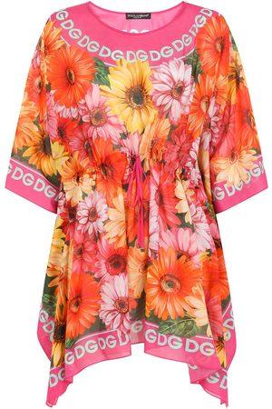 Dolce & Gabbana Damen Freizeitkleider - Logo-print floral-detail dress