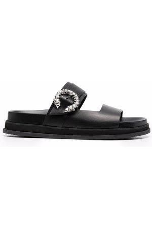 Jimmy Choo Damen Clogs & Pantoletten - Marga crystal-embellished open-toe slides