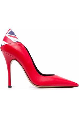 ALEKSANDER SIRADEKIAN UK Flag pointed toe pumps