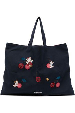 Familiar Embroidered-patch shoulder bag