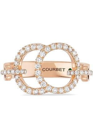 COURBET 18kt rose gold laboratory-grown diamond pavé set Celeste ring