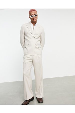 ASOS Boxy suit jacket in -Neutral