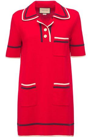 Gucci Damen Kleider - Kleid Aus Baumwoll/seidengingham