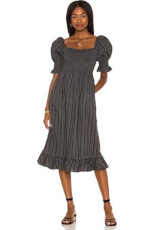 MAJORELLE Damen Midikleider - Margret Midi Dress in - Charcoal. Size L (also in XXS, XS, S, M, XL).