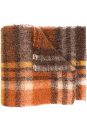 Acne Studios Checked knitted scarf