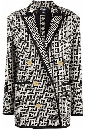 Balmain Damen Blazer & Sakkos - Monogram jacquard knit blazer