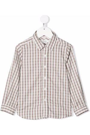 BONPOINT Jungen Lange Ärmel - Checked long-sleeve shirt