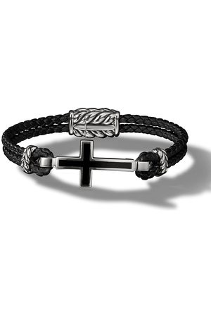 David Yurman Herren Armbänder - Cross Station leather bracelet