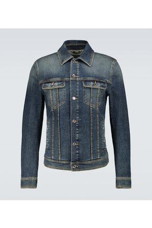 Dolce & Gabbana Herren Jeansjacken - Jeansjacke aus Stretch-Baumwolle