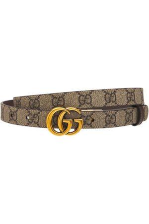 "Gucci Wendbarer, Dünner Ledergürtel ""gg Marmont"""