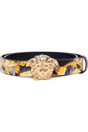 VERSACE Jungen Gürtel - Medusa Head Baroccoflage-print leather belt