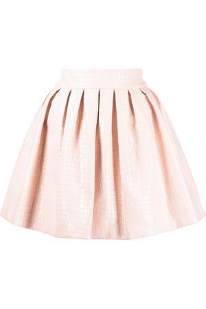 ALICE+OLIVIA Fizer box-pleated skirt