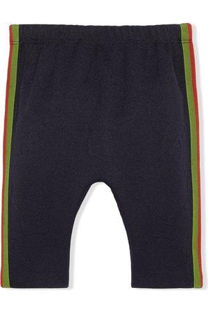 Gucci Slips & Panties - Web stripe-detail GG-embossed tracksuit bottoms