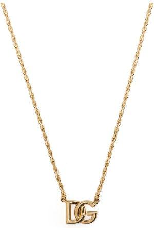Dolce & Gabbana Herren Halsketten - DG logo-plaque chain-link necklace