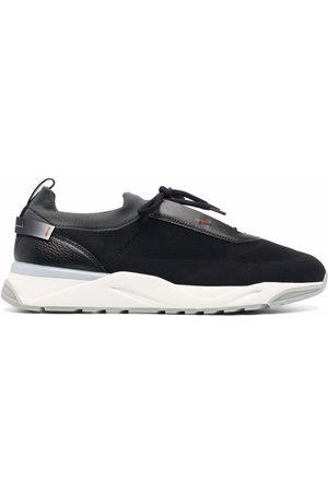 santoni Mesh lace-up sneakers