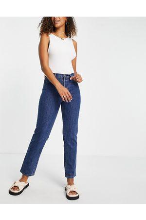 MANGO Slim leg jeans in blue