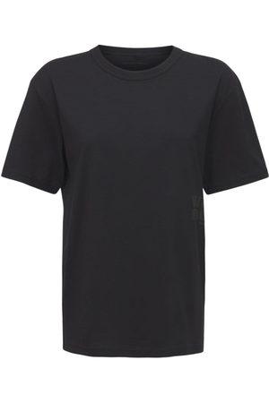 Alexander Wang Damen Shirts - T-shirt Aus Baumwolljersey Mit Druck