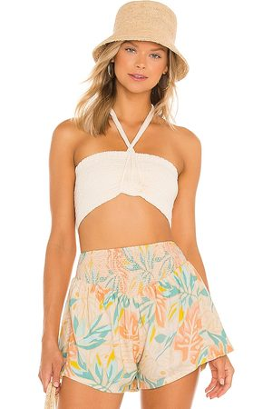 Jen's Pirate Booty Marlin Bandeau Top in - Neutral. Size L (also in XS, S, M).