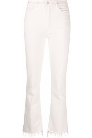 Mother Damen Bootcut - Bootcut ankle-fray jeans