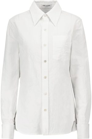 Saint Laurent Damen Blusen - Hemd aus Baumwolle und Leinen