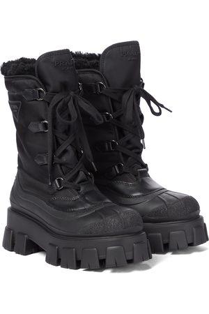 Prada Damen Stiefeletten - Ankle Boots Monolith aus Nylon