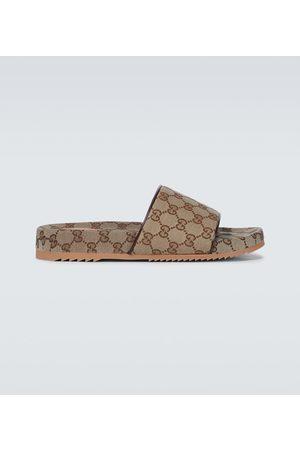 Gucci Herren Clogs & Pantoletten - Pantoletten GG Supreme aus Canvas