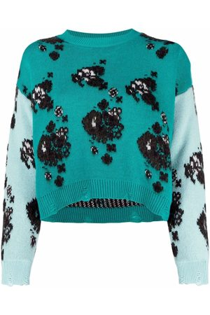 Pinko Damen Strickpullover - Patterned jacquard jumper