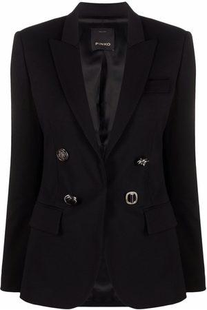 Pinko Damen Blazer & Sakkos - Embossed-buttons single-breasted blazer