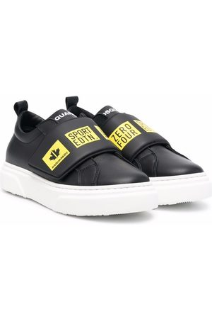 Dsquared2 TEEN graphic-print leather-strap trainers
