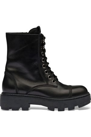 Miu Miu Damen Stiefeletten - Lace-up ankle-length boots