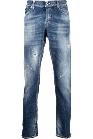 Dondup Herren Straight - Mid-rise straight-leg jeans