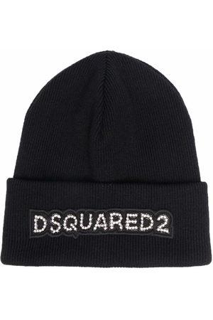 Dsquared2 Damen Hüte - Wool logo patch beanie