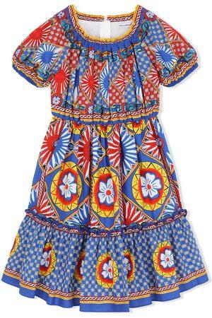 Dolce & Gabbana Mädchen Bedruckte Kleider - Carretto print midi sundress