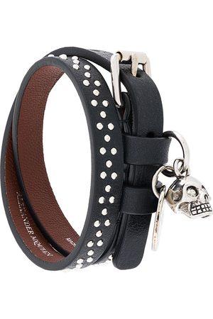 Alexander McQueen Herren Armbänder - Studded skull charm bracelet